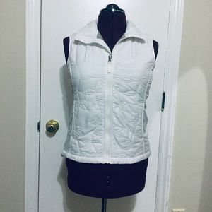 Like New The North Face zip up White Vests women